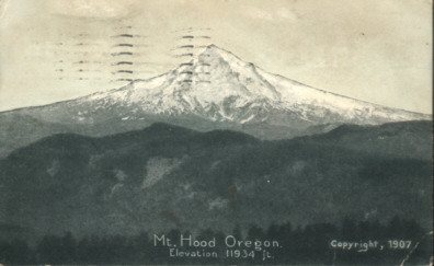 Mt. Hood Oregon, Elevation 11934 feet